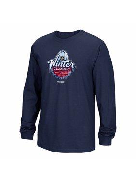 0cb2533f546d Product Image Winter Classic NHL Reebok Navy Blue 2017 Winter Classic  Official Logo Long Sleeve T-Shirt