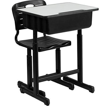 Zimtown High School Student Desk and Chair Set Adjustable