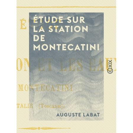 Étude sur la station de Montecatini - eBook
