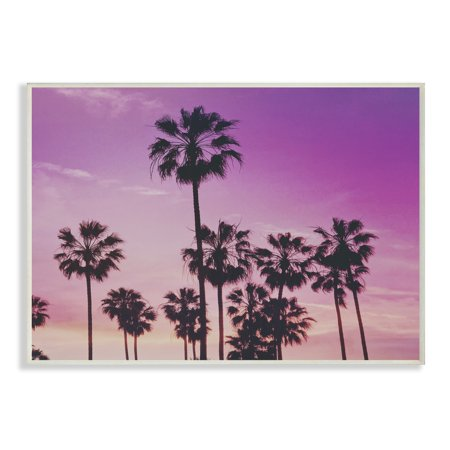 - The Stupell Home Decor Collection Tropical Purple Palm trees Photography Oversized Wall Plaque Art, 12.5 x 0.5 x 18.5