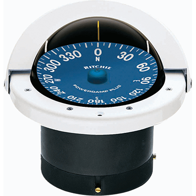 "RITCHIE COMPASSES SS-2000W Compass, Flush Mount, 4.5"" Dial, White by RITCHIE COMPASSES"