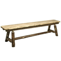 Glacier Country Collection Plank Style Bench, 6 Foot