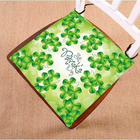 GCKG St. Patrick's day Chair Pad Seat Cushion Chair Cushion Floor Cushion with Breathable Memory Inner Cushion and Ties Two Sides Printing 16x16 inches - image 3 de 3