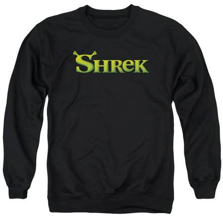 SHREK/LOGO - ADULT CREWNECK SWEATSHIRT - BLACK - XL