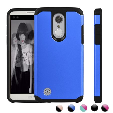 LG Aristo Case, LG LV3 Case, LG Fortune Sturdy Case, LG K8 2017 Case, LG Phoenix 3 Case, Njjex Dual Layer Armor Full-Body Protective Case For LG M210 MS210 - - Cobalt Blue Cased Cut