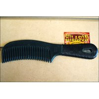 HUNTER GREEN HILASON HORSE TACK EASY GRIP GROOMING PLASTIC MANE AND TAIL COMB 8