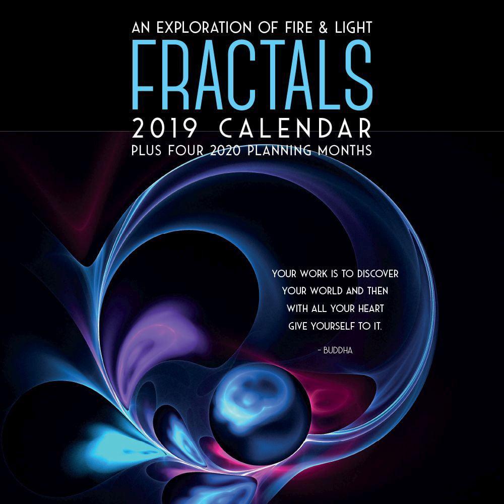2019 Fractals 2019 Wall Calendar, Fantasy Art by Brush Dance by Brush Dance