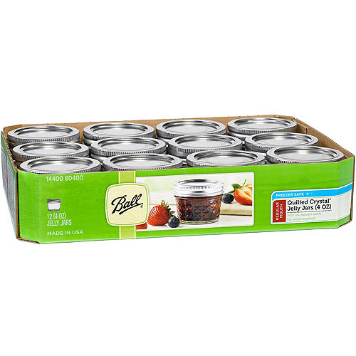 Ball 12 Count 4 Ounce Jelly Jars With Lids And Bands