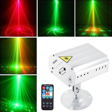 Lv. life Portable LED Remote Controlled Colorful Stage Light, Mini Silver Stage Lamp Kit for Party DJ Disco US 110V
