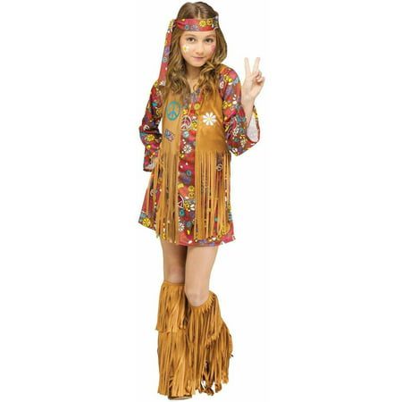 Peace and Love Hippie Child Halloween Costume - Hippie Coatume