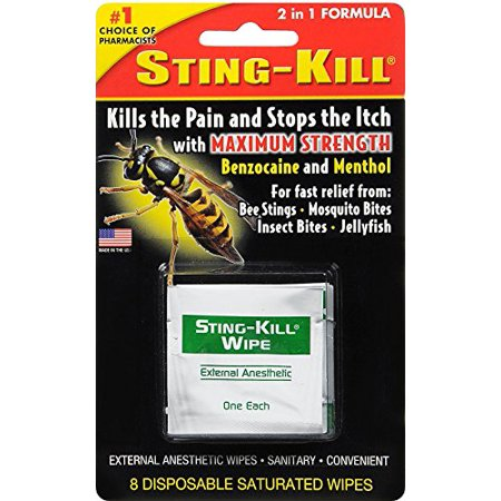 Sting-Kill Disposable Wipes 8 Each - image 1 de 1