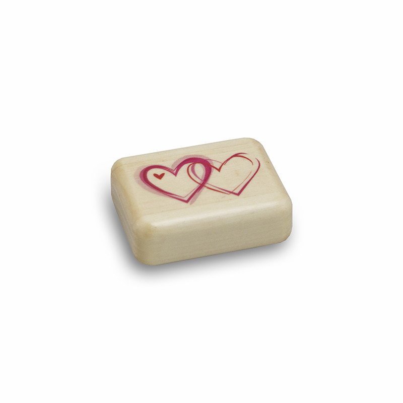Interlocking Hearts Wood Keepsake Box