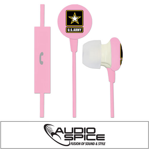 U.S. Army Ignition Earbuds + Mic - Pink