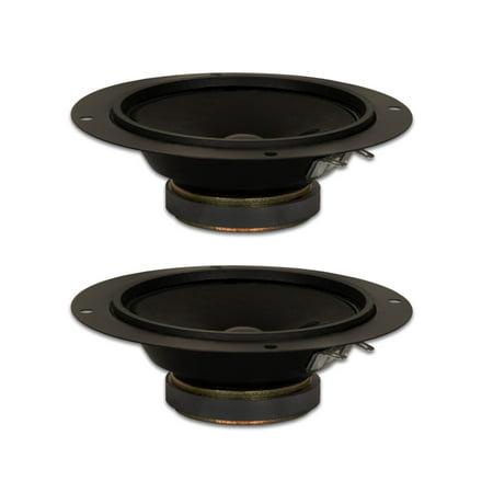 "2 Goldwood Sound GM-35 Black 5.25"" Cone Midranges 80 Watt each 8ohm Replacement Mids"
