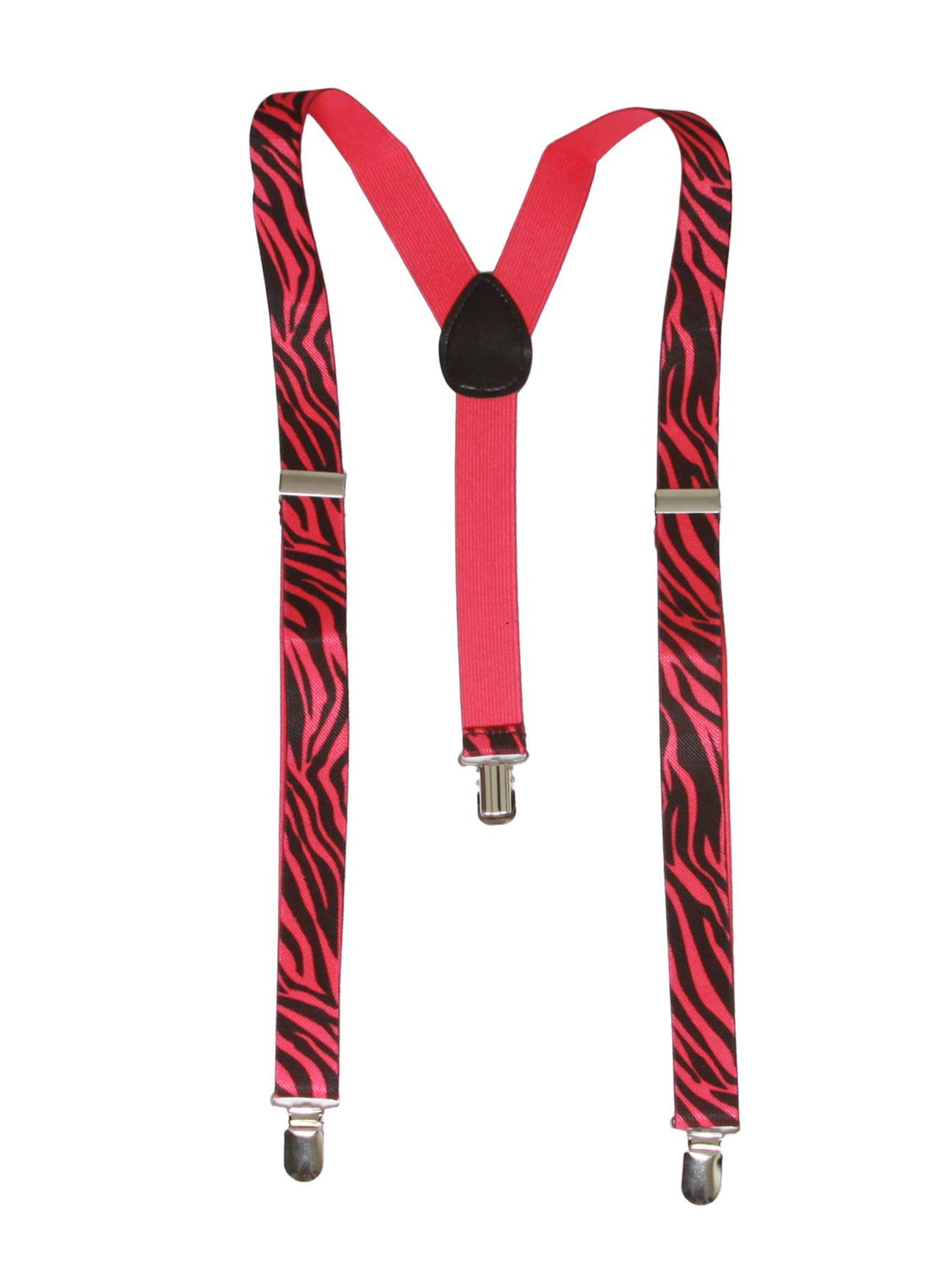 Zebra 3 Clip Stretchable Suspenders 2 pack-