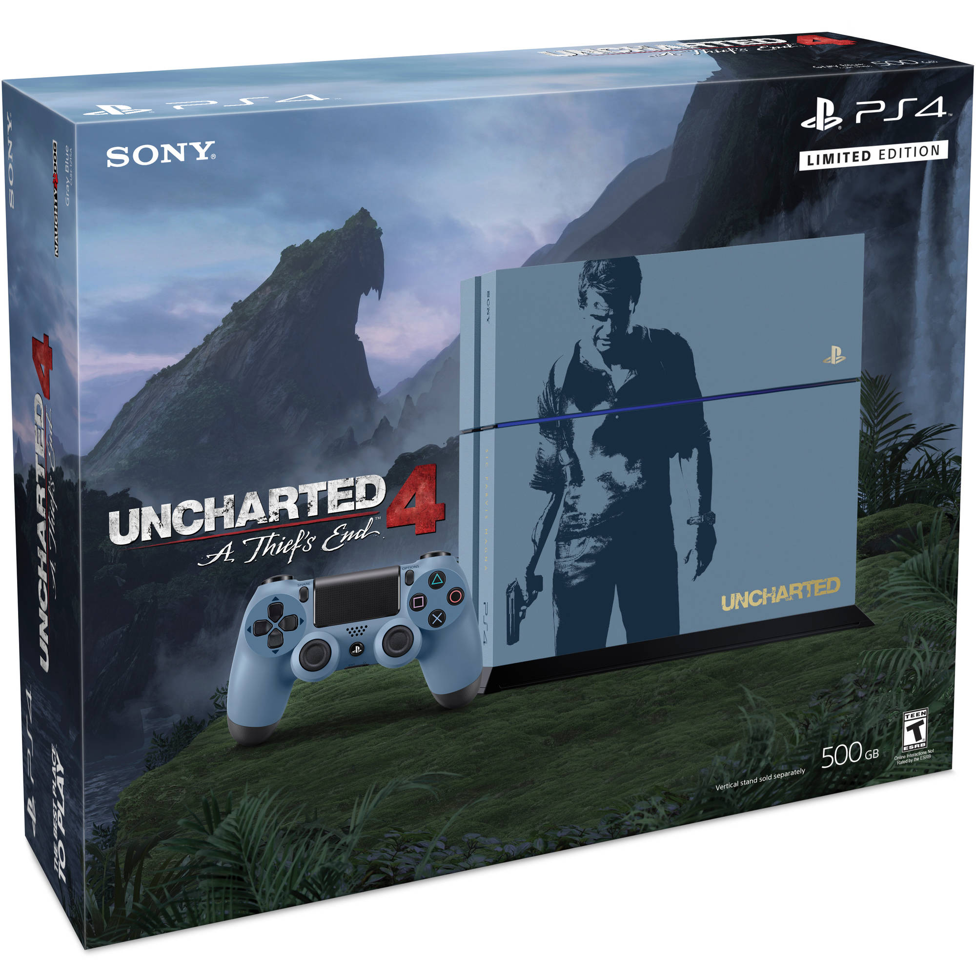 PlayStation 4 Limited Edition Uncharted 4 Console Bundle (PS4) - Walmart.com