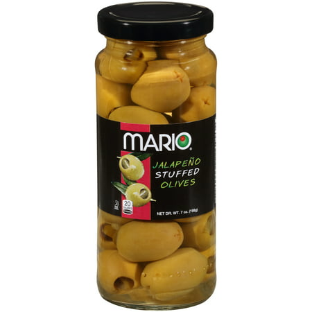 7 Ounce Liver - Mario® Jalapeño Stuffed Olives 7 oz. Jar