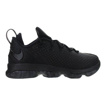 competitive price 598bf f2652 Mens Nike LeBron 14 XIV Triple Black Dark Grey 878636-002