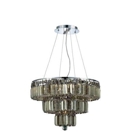 UPC 842814130050 product image for Elegant Lighting 2036D20C-GT Maxim 9-Light, Three-Tier Crystal Chandelier, Finis | upcitemdb.com