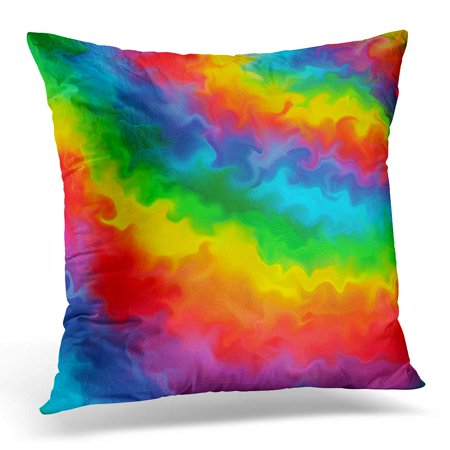ECCOT Blue Water Rainbow Colors Abstract 2 Green Blend Pillowcase Pillow Cover Cushion Case 16x16 inch (Rainbow Blend)