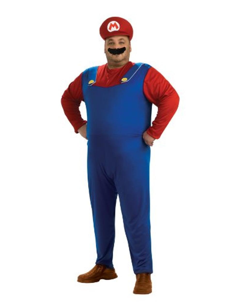 Plus Super Mario Brothers Mario Costume Blue