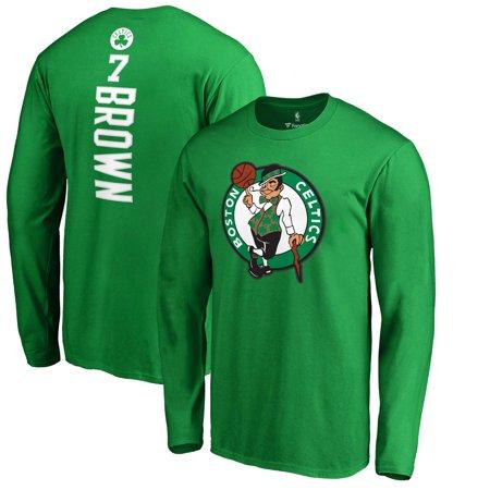 hot sales caeb9 e666d Jaylen Brown Boston Celtics Fanatics Branded Backer Name & Number Long  Sleeve T-Shirt - Kelly Green