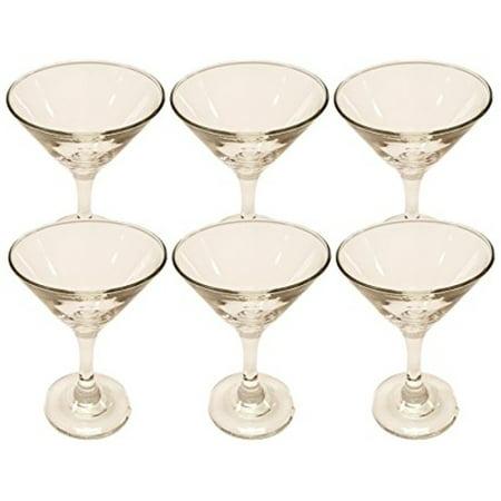 Set of 6 Martini Glasses! Beautiful Epure Italian Glass - 5.25oz Martini 150cc (6)