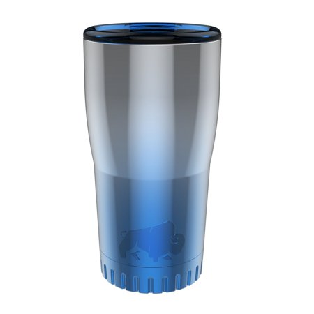 Silver Buffalo Stainless Steel Insulated Tumbler, 20 oz., Ombre Blue