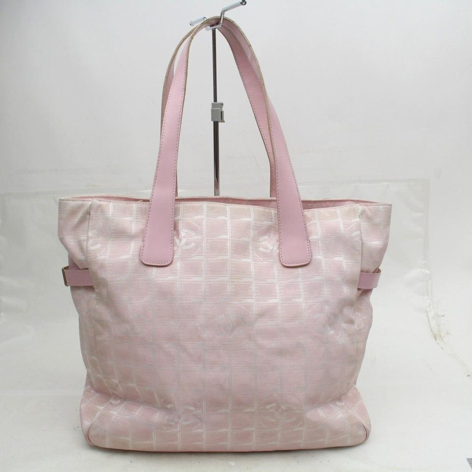 CHANEL New Line Travel Gm 868959 Pink Canvas Tote