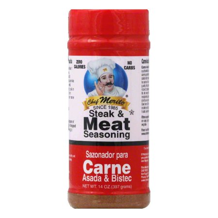 Chef Merito Carne Asada Seasoning, 14 OZ (Pack of
