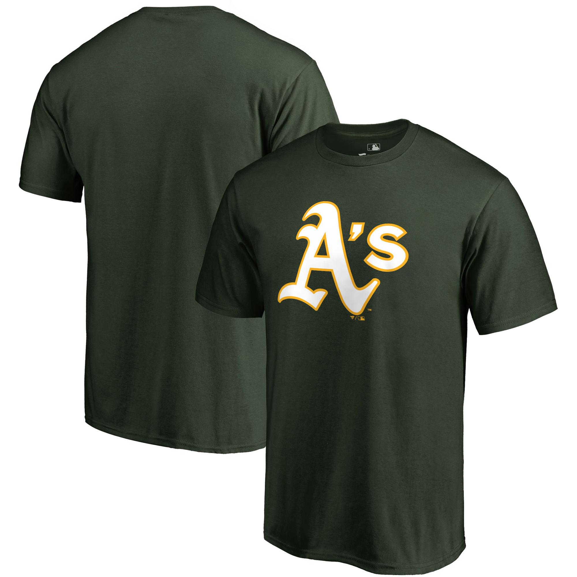 Oakland Athletics Fanatics Branded Primary Logo T-Shirt - Green