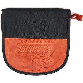 Charlotte Bobcats Leather nylon Embossed Cd Case by
