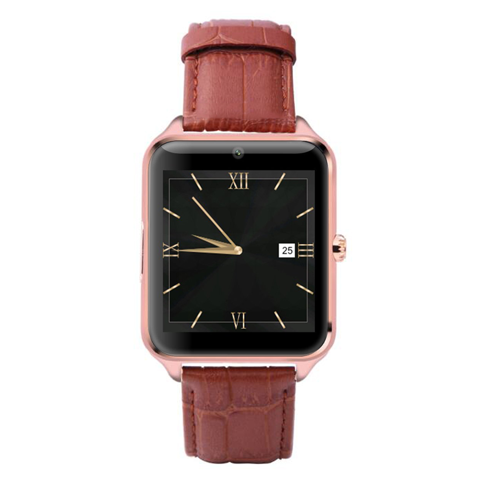AGPtek Metal Bluetooth Smart Watch Phone Wristwatch for Iphone Android Samsung Smartphones (Gold)