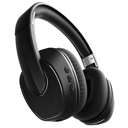 sharper image sbt565bk bluetooth wireless noise cancelling headphones great for airplanes. Black Bedroom Furniture Sets. Home Design Ideas