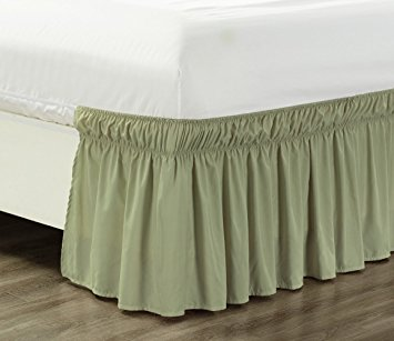 "2 STYLES Dust Ruffled Bed Skirt Bedding Bed Dressing Easy Fit 14/""Drop"