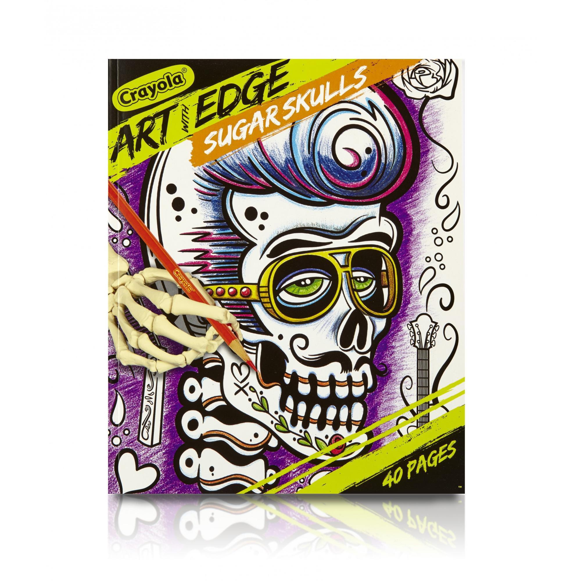 Crayola Sugar Skulls Coloring Book, Teen Coloring, 40 Pages