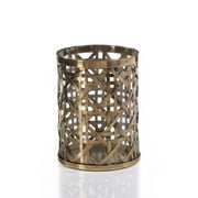 Zodax Heritage Medium Polished Steel Weave Candle Holder