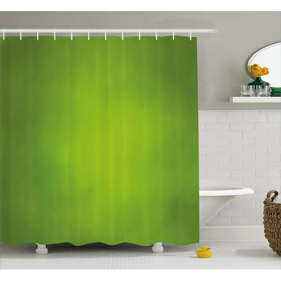 Sage Shower Curtain Abstract Green Background With Blurred Color Ecology Growth Woodland Soft Smooth Look