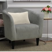 Mainstays Microfiber Tub Accent Chair, Multiple Colors