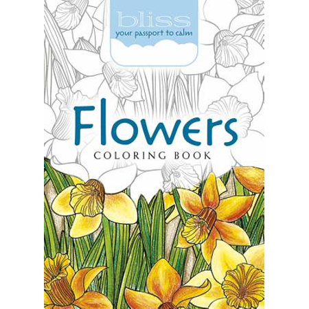 Bliss Flowers Coloring Book : Your Passport to - Spring Flowers Coloring Pages