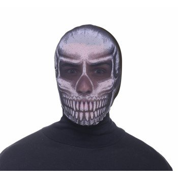 HOODED MASK-SKULL - Scary Sugar Skull