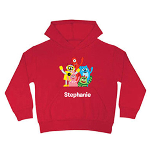 Personalized Yo Gabba Gabba! Gabba Friends Kids' Red Hoodie