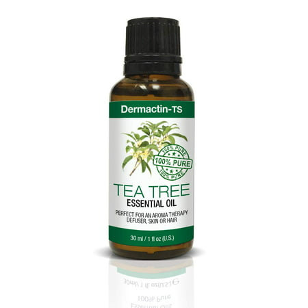 Dermactin-TS Essential Oil 100% Pure Tea Tree Oil 1 oz. - Naturally Cures Fungus, Bacteria & Viruses, Treats Acne, Ringworm, Athletes Foot & Bronchial Congestion, Soothing &