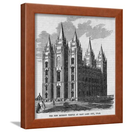 The New Mormon Temple at Salt Lake City, Utah. Framed Print Wall