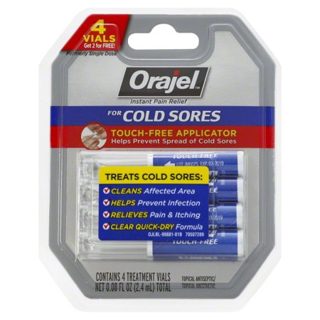 Orajel Touch-Free Cold Sore Patented Treatment .08