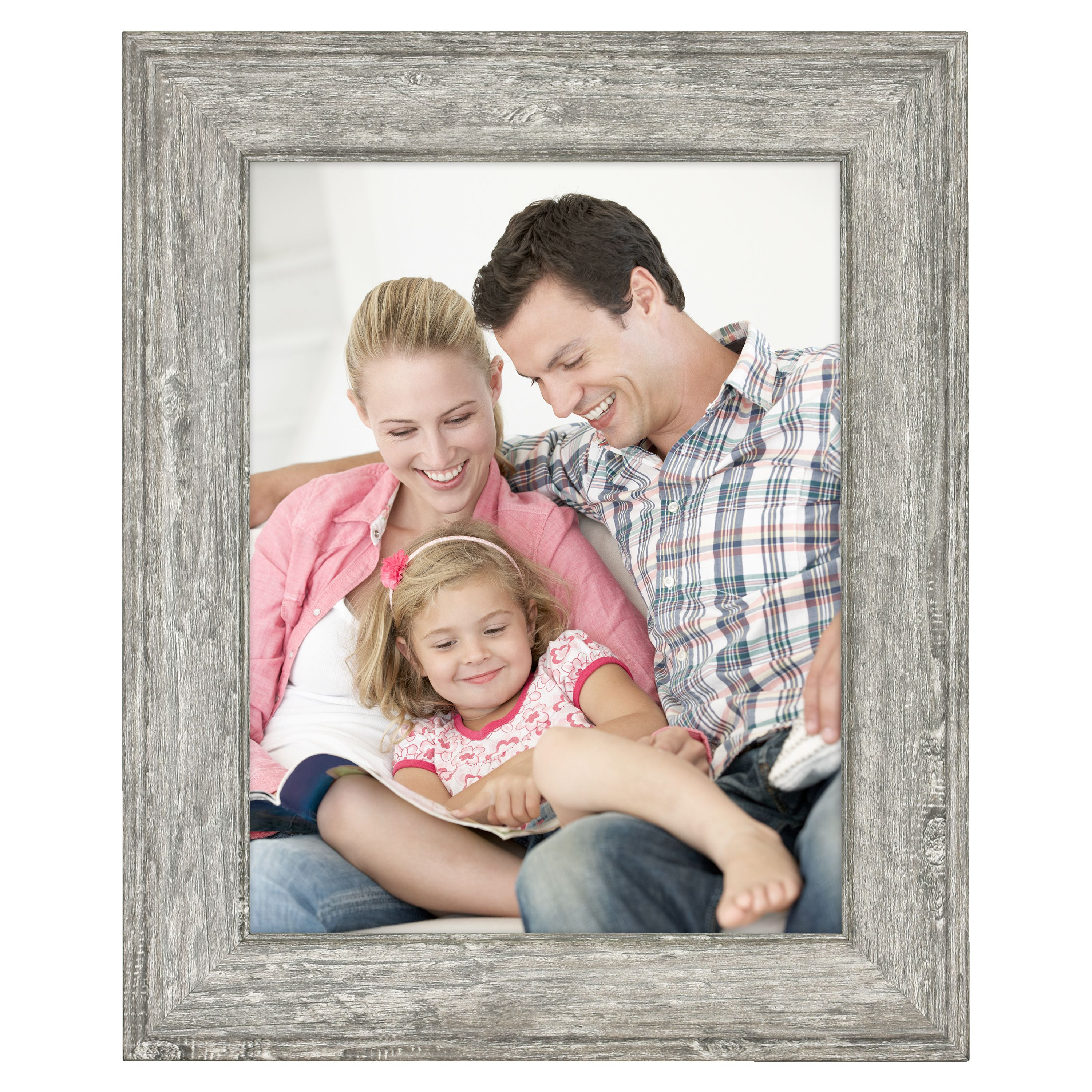 """Mainstays 8.5"""" x 11"""" Tabletop Picture Frame, Rustic Gray"""