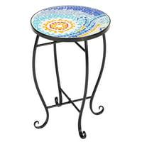 Artisasset Blue Hawaiia Mosaic Round Terrace Bistro Table