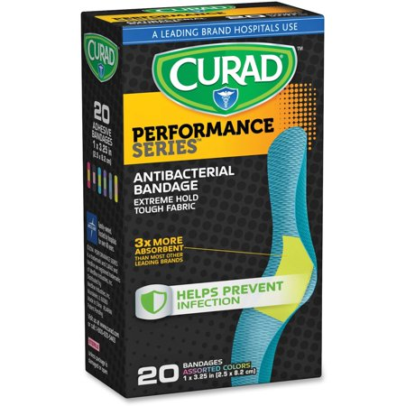 Curad Performance Series Colored Antibacterial Fabric Bandages