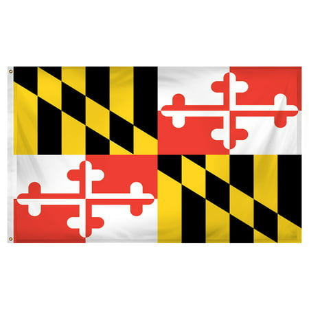 Maryland flag 3 x 5 feet Super Knit polyester](Halloween Stores Maryland)