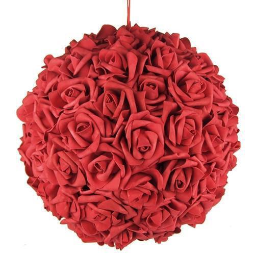 Soft Touch Flower Kissing Balls Wedding Centerpiece, 14-inch